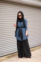 STUDIO NİSH - StudioNish Siyah Doha Pantolon